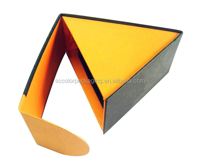 Custom Hard Cardboard Triangle Shaped Paper Watch Box