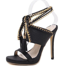 The Latest Style Sandals Woven Hollow ladies heel shoes sandal