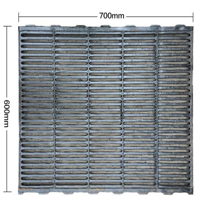 600x600mm Durable pig cast iron slat flooring