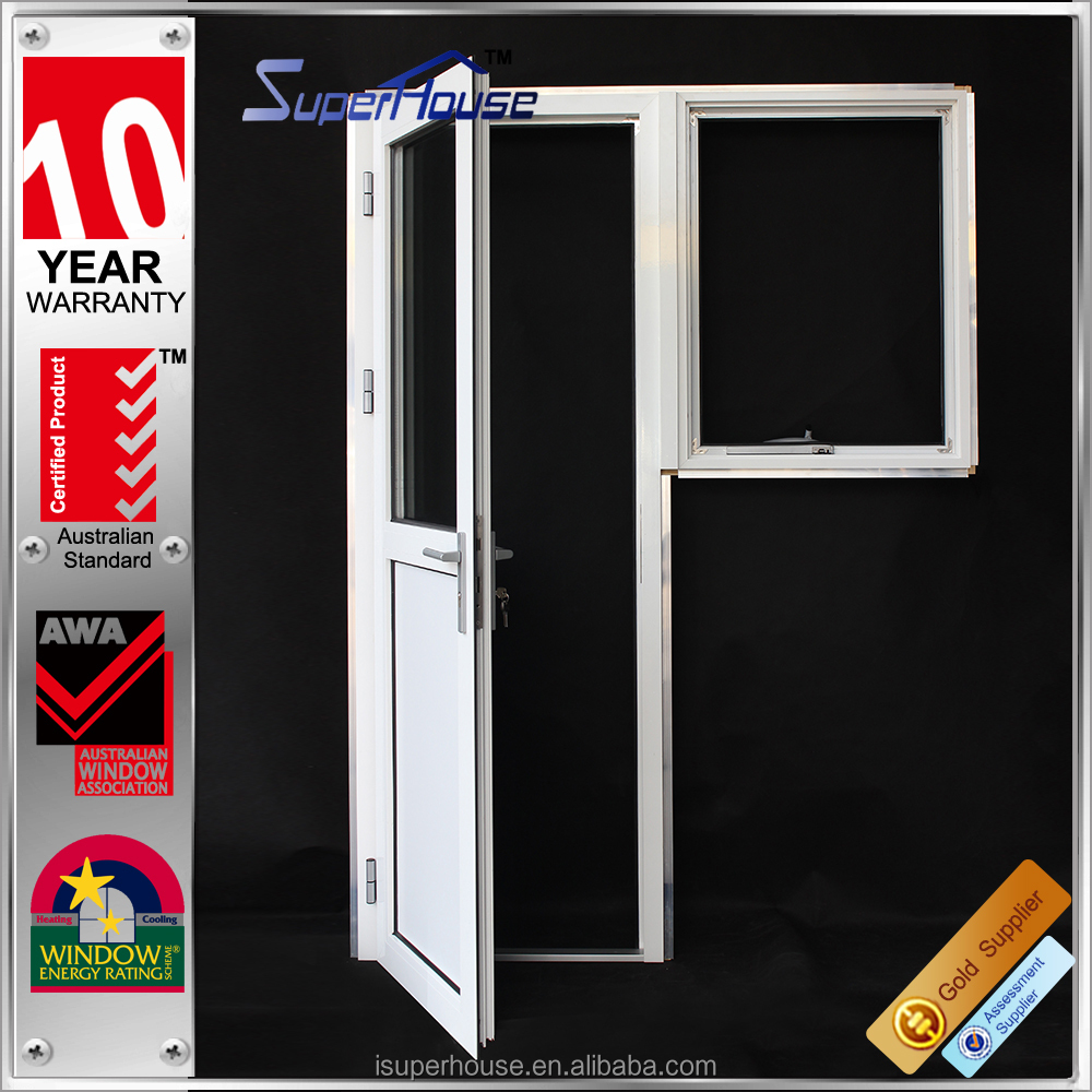 shanghai factory wholesale aluminum double glazed single french door awning window with german hardware