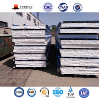 Low Price Heat Insulation Construction Material Corrugated Steel EPS Sandwich Board China Price
