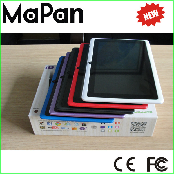 1080p full hd tablet pc 7 inch MaPan quad core android 4.4 OS android tablet with USB port