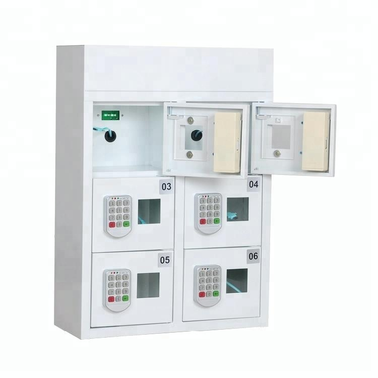 wall-mounted charging Lockers cellphone charging station / coin operated cell phone charging kiosk / security charging locker
