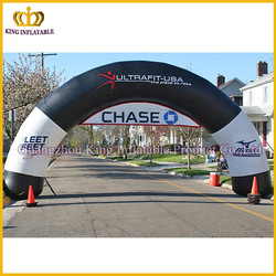 Newest design attractive sealed inflatable event arches,inflatable crescent arch