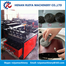 8 wires 4 balls automatic stainless steel mesh scourer making machine