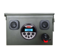 factory good price outdoor stereo ammo can stereos with bluetooth music,FM,AM,USB port
