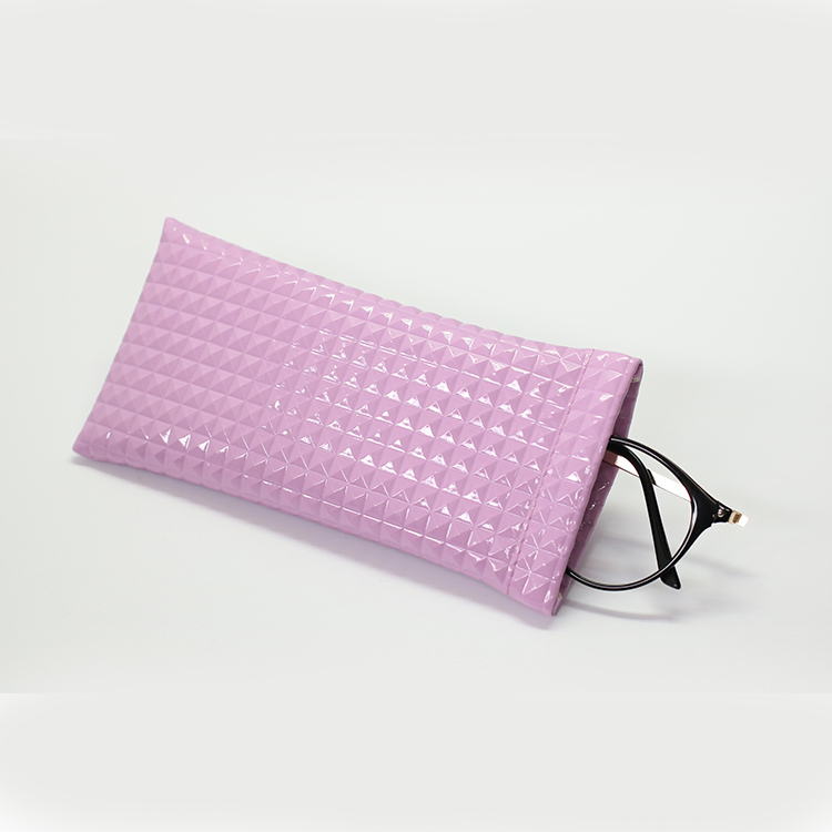 Most popular custom PU leather pouch glasses bag eyewear pouch