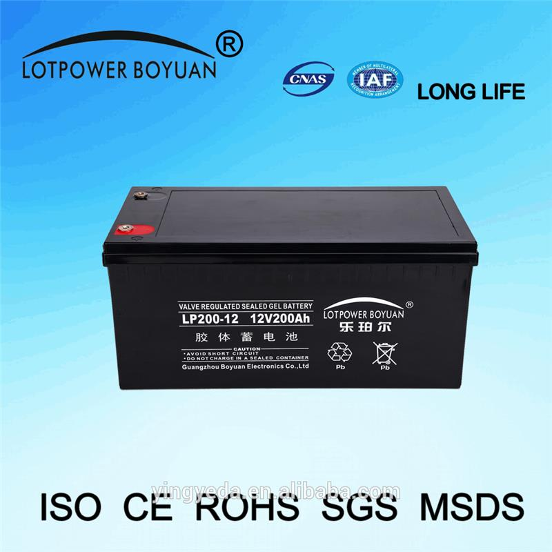 soler cell excellent quality telecommunication towers battery agm battery 12v 200ah supplier