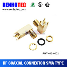 SMA male / female rf connector straight / right angle,panel / pcb mount