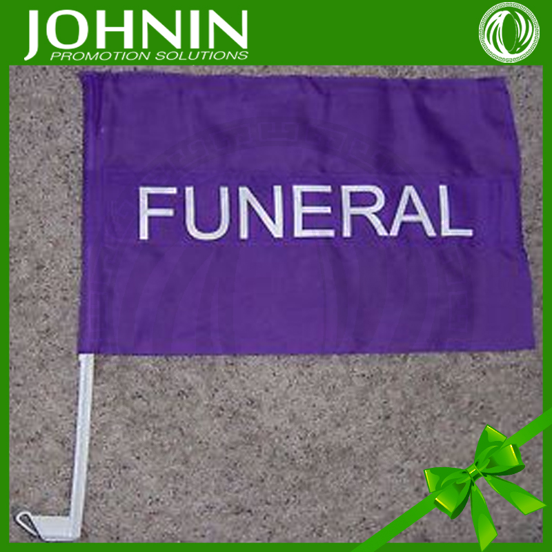 bottom price printing polyester useful funeral procession car flag