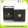 Top quality cardboard square candle packaging boxes