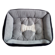 Luxury black and grey soft dog sleeping bed for pet