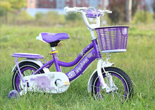 small size children purple bicycle/side wheels children bicycle pictrues