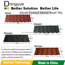 Factory price building material stone coated metal roof tiles/popular style color sand cotaed roof tile