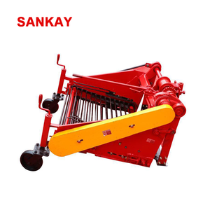 Mini Walking Tractor Vibrating Single Row Onion Potato Harvester For Sale