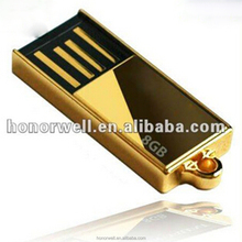 Hotsale Special Mini Golden and silver usb flash drives bulk cheap