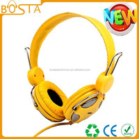 Light yellow fancy color go pro deep bass sound fashion headset