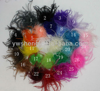 Beautiful full ostrich puff, ostrich feather for garment decoration
