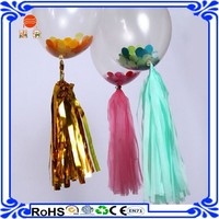 Girls princess little mermaid 70th birthday party decoration kit 2 giant 36' balloons with tassels +10 pom poms + tassel garland