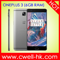 Oneplus 3 NFC Fingerprint Sensor Dual Band WiFi 6GB RAM 64GB ROM Metal body China brand name mobile phone