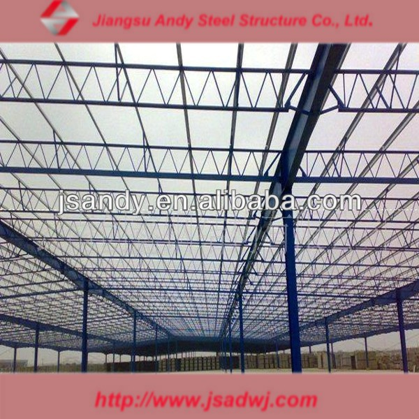 Andy quality assurance industrial light steel truss storage roof
