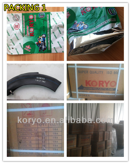 KORYO BRAND high quality 3.50-17 TR 4 china motorcycle tube