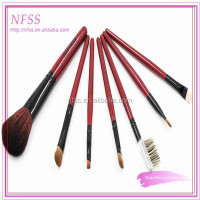 Fashion brush factory make up brush 7pcs/set cosmtic brush set goat hair