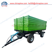 Heighten double axle 3 dump farm trailer