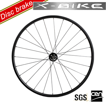 2017 XBIKE full carbon fiber tubular disc brake chinese road wheelset