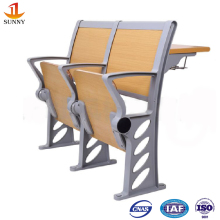 Lecture Hall furniture for school wood and steel Classroom Auditorium Chair