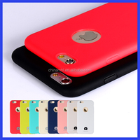 Candy color silicone cell phone case for iPhone 6 6s, for iPhone 6 6s plus