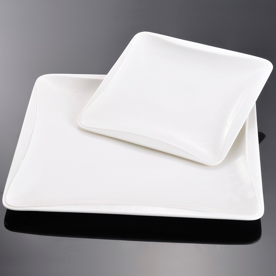 Square Shaped Ceramic Salad Dessert Dinner Service Plates Dishes