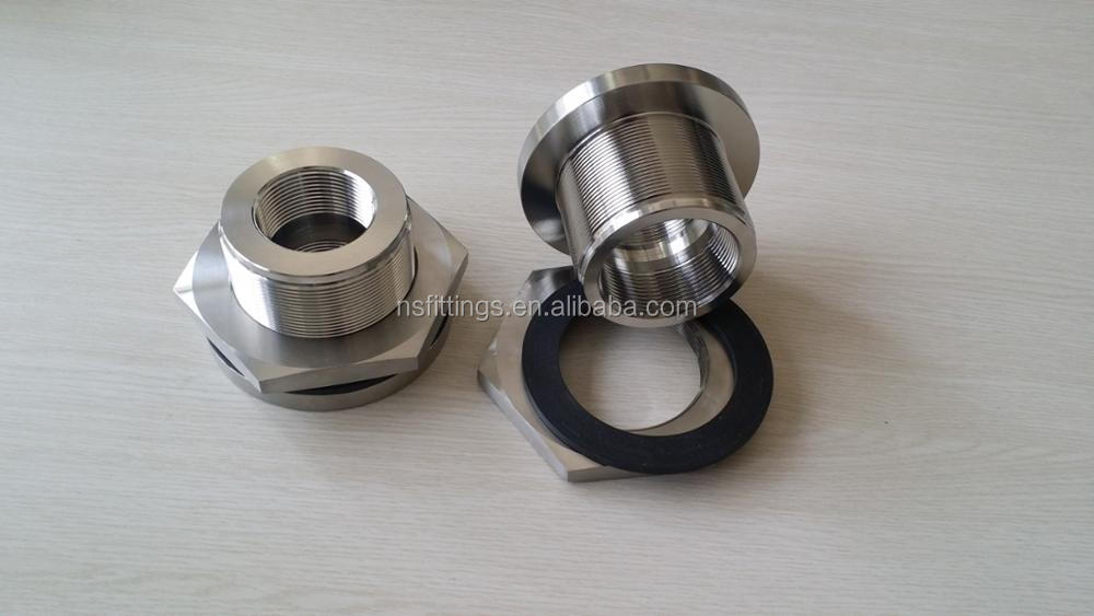 Alibaba online forged stainless steel threaded bulkheads