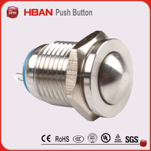on off metal switch 12mm round waterproof 1a