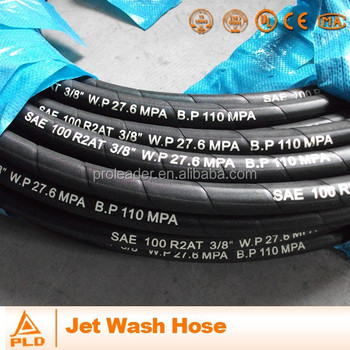 Smooth Cover Colorful Jet Wash Hydraulic Hose