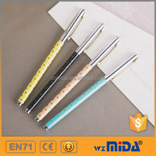lovely metallic gel ink pen with PVC gift box MD-Z9010