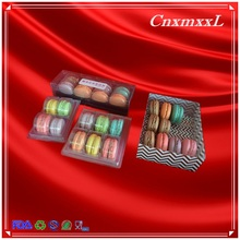 macarons cakes foods cookies biscuit clamshell or lid base plastic soft thin blister trays