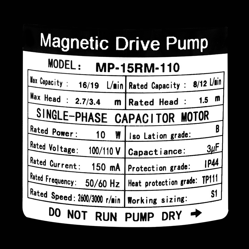 New Magnetic Drive Pump 15R With Stainless Steel Head Homebrew Pump with CE Certification 110V US Plug