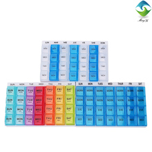 Wholesale weekly 7 day 28 cases separable pill box 4 times daily
