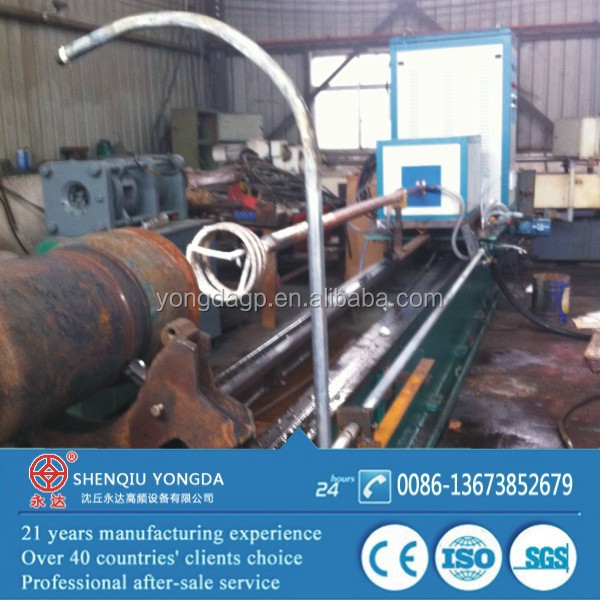 Surface hardening of pipe for concrete pump
