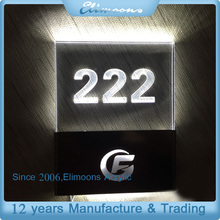 Casting Craftsman Custom Hotel Room Acrylic Door Number Plate With LED