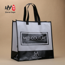 Coated non-woven custom printed logo handbags pp shopping bags
