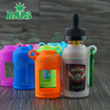 custom made e liquid bottle with e liquid glass droppers silicone case/skin/sleeve/cover/box for 30ml black e liquid bottles