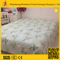 cotton bedding sheet fabric floral printing fabric for bed sheeting