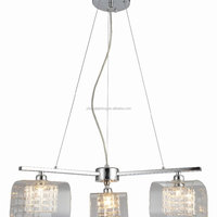 Fancy Glass 3 Head Pendant Lighting
