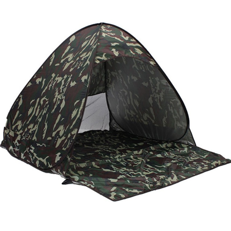 nonwoven fabric camouflage pop up mosquito proof tent for outside military training camping hunting sports