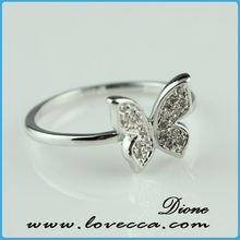 Beautiful New Arrival Hollow Engraved Diamond Ring Insurance Top Level Grace Color Stones Rings Jewelry Sets