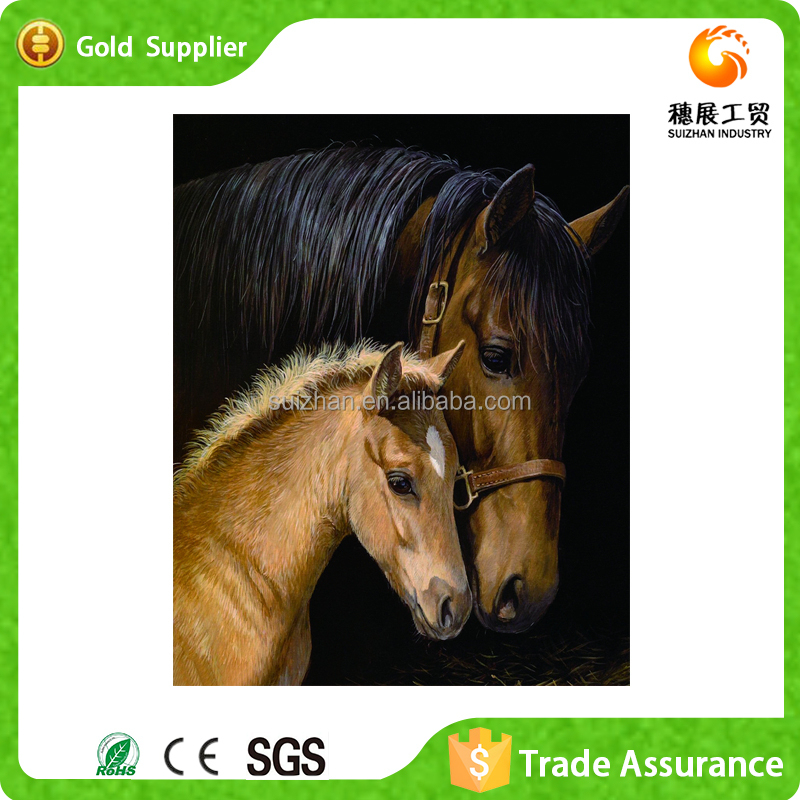 Fast supply 3D diy horse head diamond <strong>art</strong> and crafts room wall decoration painting