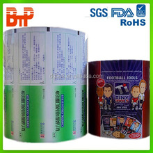 plastic cup sealing laminating roll film for food packaging