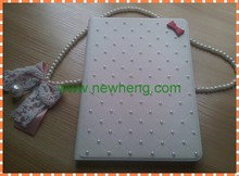 fashion Bling Diamante Leather Case with stand for iPad 5